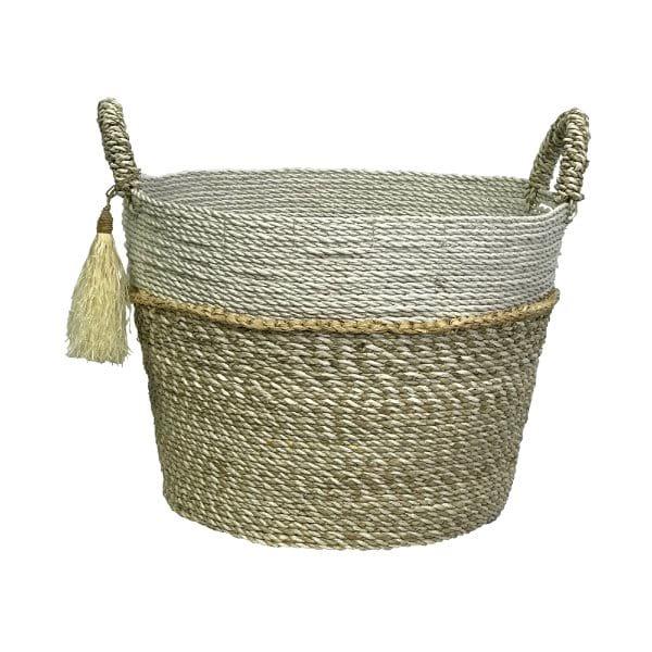 Natural/White Basket Large