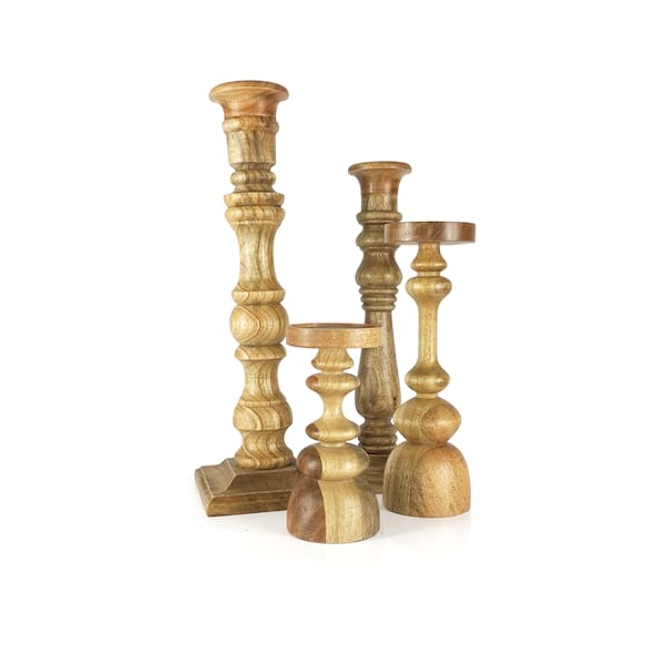 Wood Candlesticks