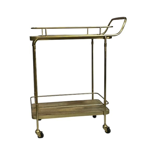 Brass & Wood Bar Cart