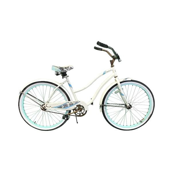 White/Turqoise Bike