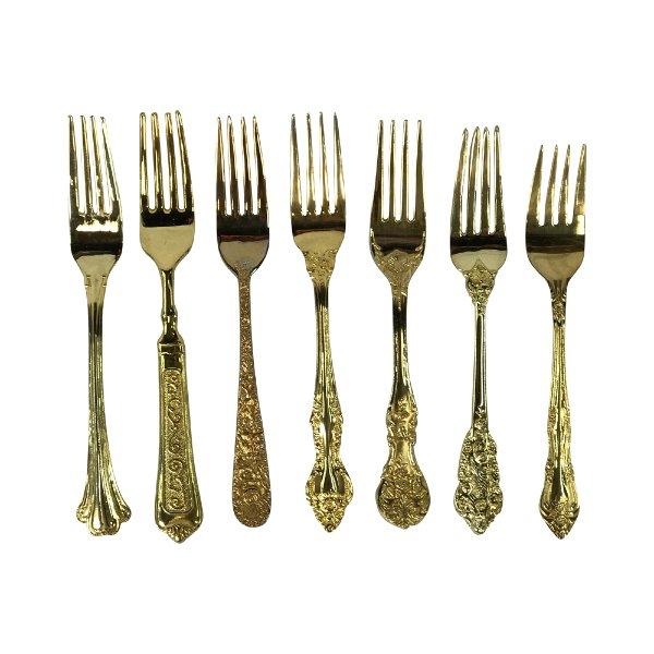 Vintage Gold Dinner Forks