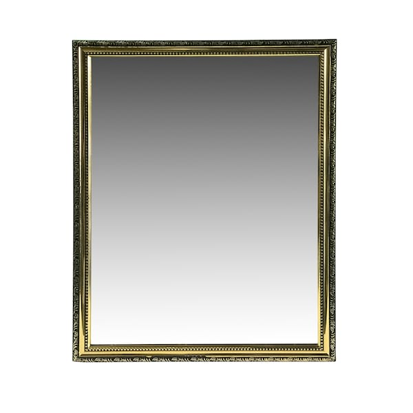 Large Gold Square Mirror