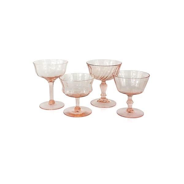 Pink Champagne Coupes