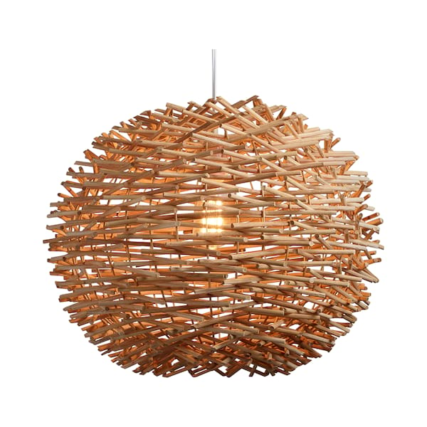 Bird Nest Rattan Hanging Lamp