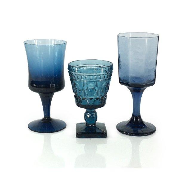 Blue Juice Glass