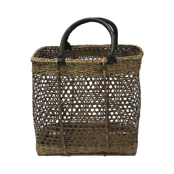 Vintage Cane Weave Shopping Basket