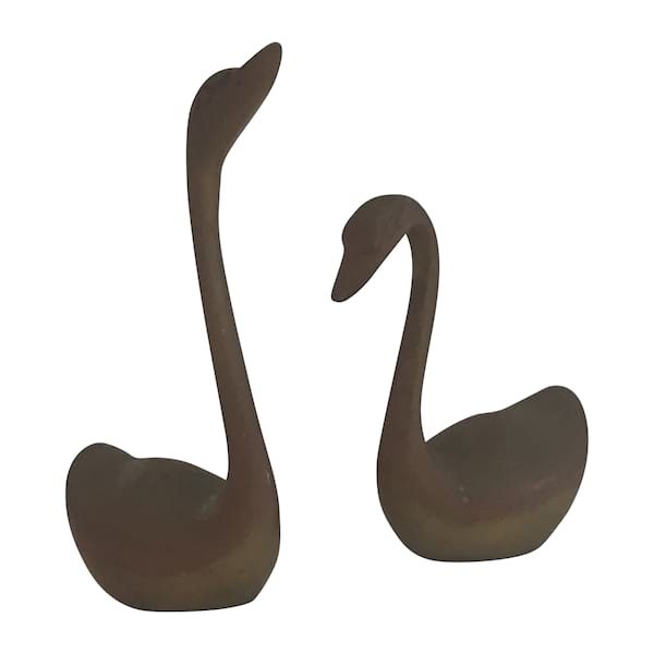 Mini Brass Swans