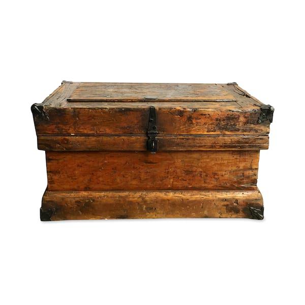 Vintage Wood Trunk