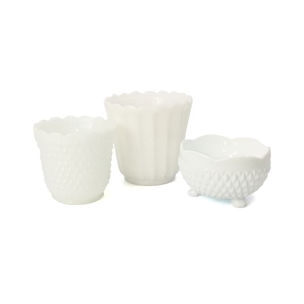 Milk Glass Pots