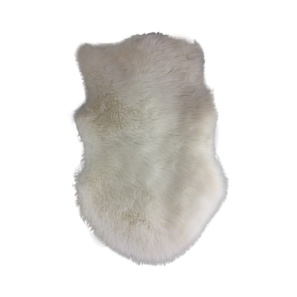 Faux Lamb Fur Throw Rug