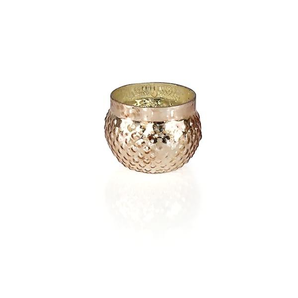 Rose Gold Mercury Glass Votive