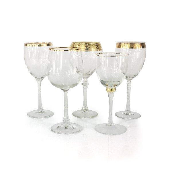 Gold Rim Wine Glasses