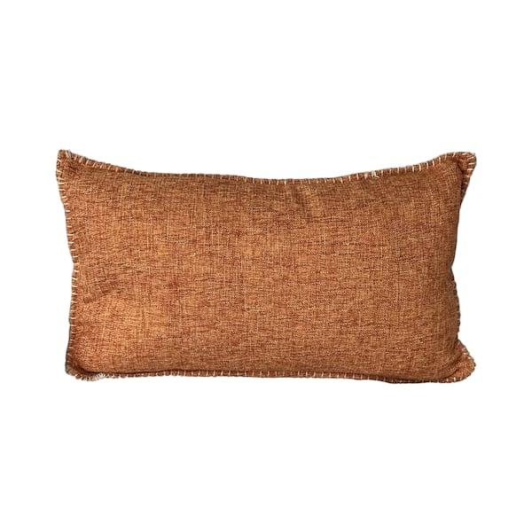 Orange Blanket Stitch Lumbar