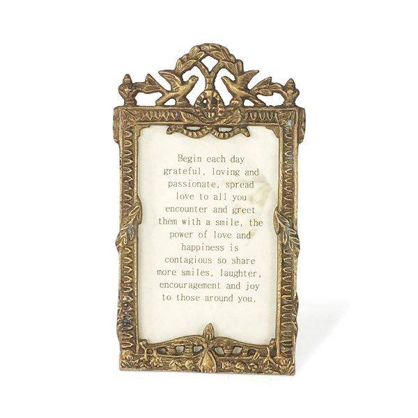 Tabletop Brass Frame
