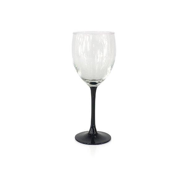 Black Stem Wine Glasses