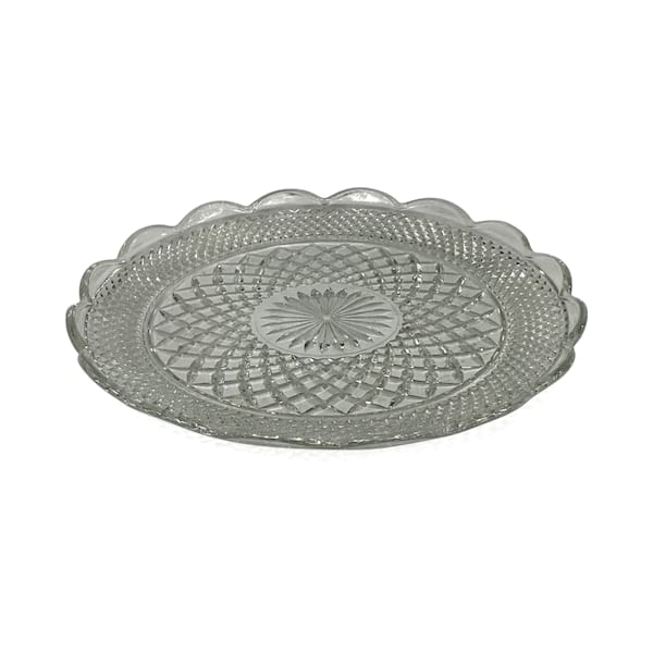 Clear Cut Glass Platter