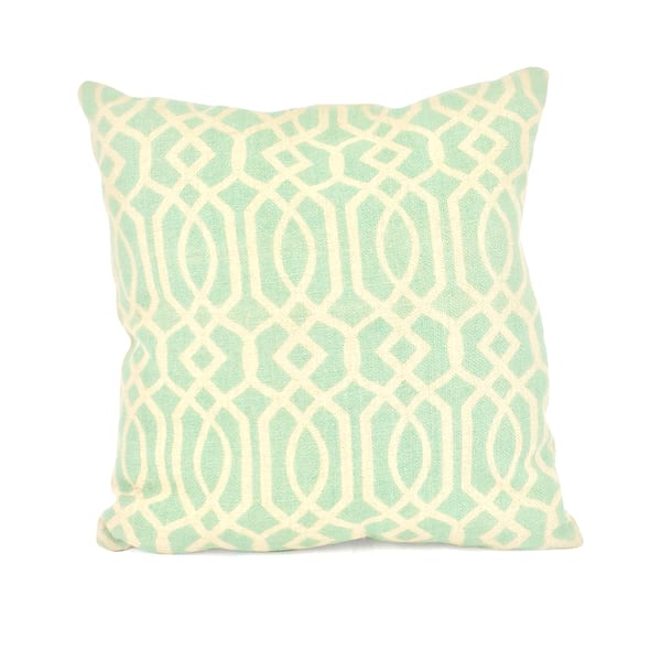 Mint//Patterned Burlap