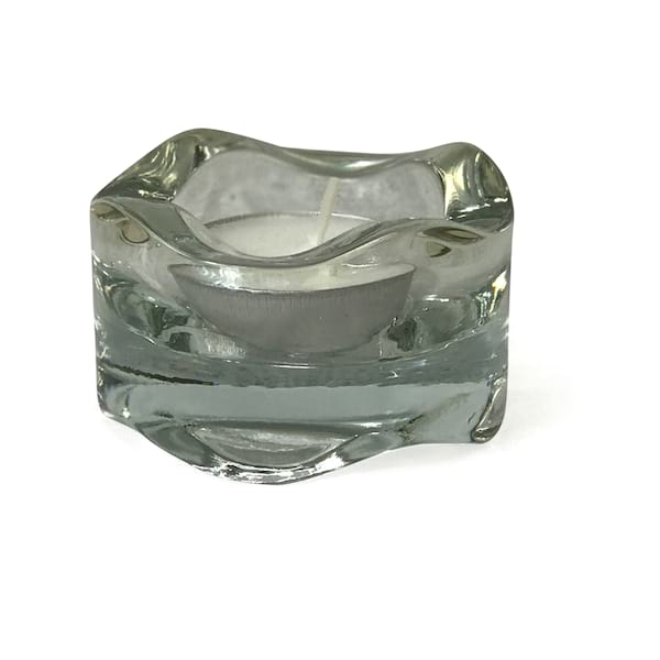 Modern Wave Clear Glass Votive