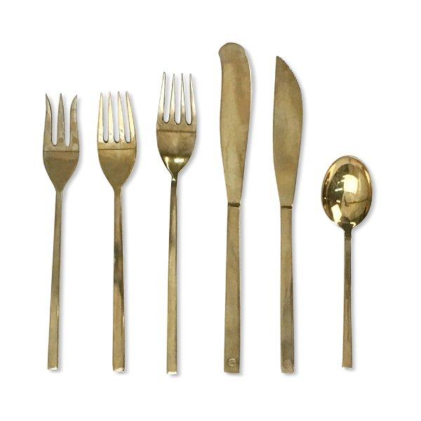 Vintage Modern Brass Flatware
