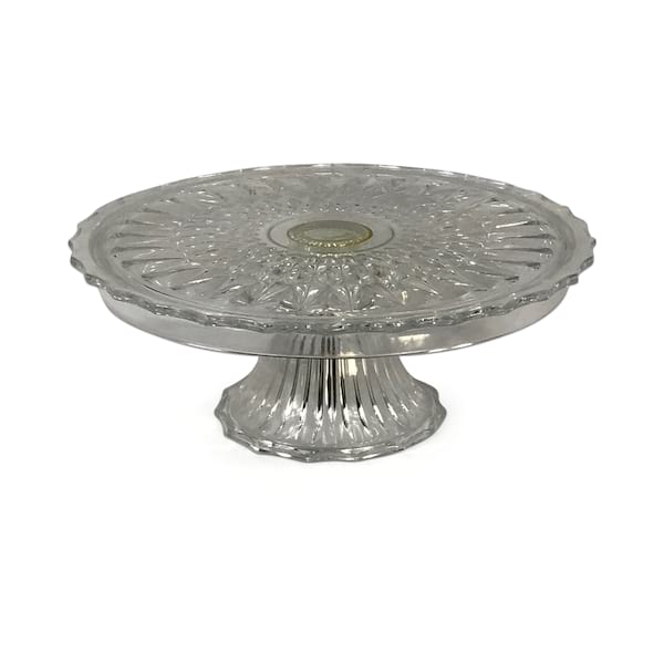 Clear Glass Cake Stand #2