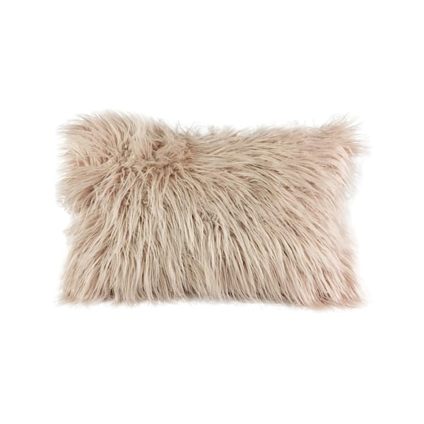 Blush Faux Fur Lumbar