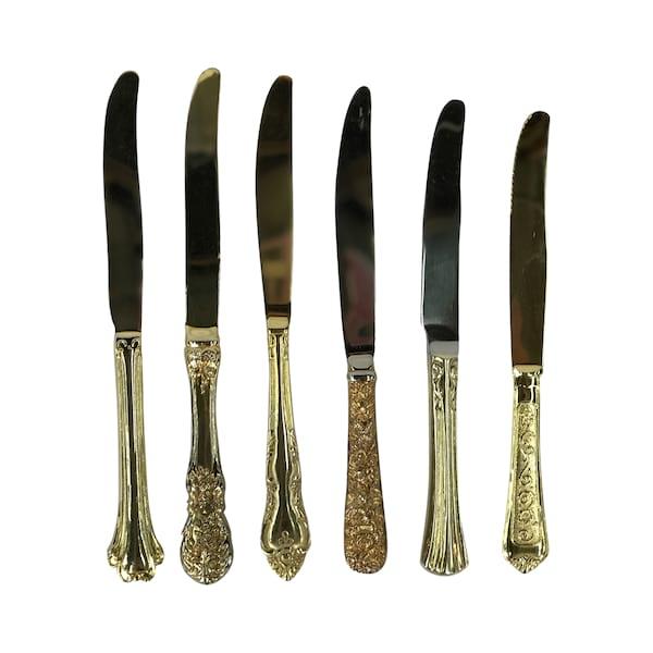 Vintage Gold Dinner Knives