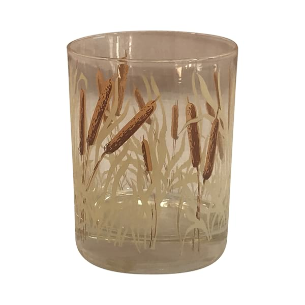 Vintage Cattail Rocks Glasses