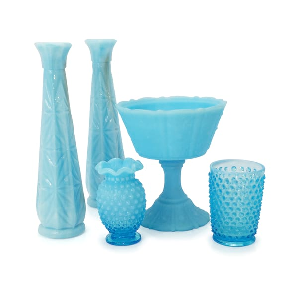 Light Blue Milk Glass
