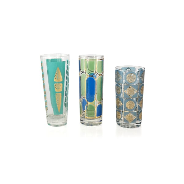 Vintage Blue Highball Glassware