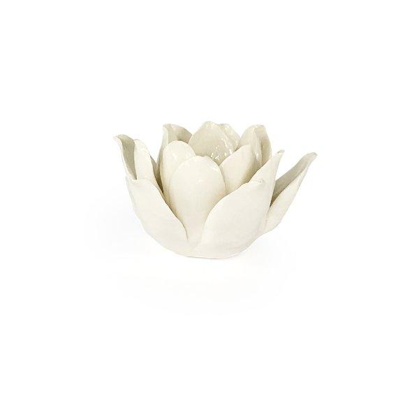 White Lotus Flower Votives