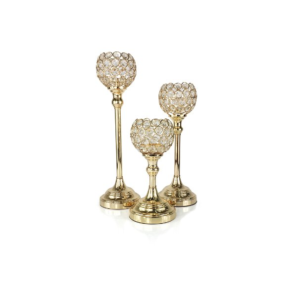 Gold/Crystal Candle Votives
