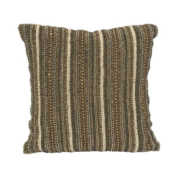Beaded Metallic Pillow