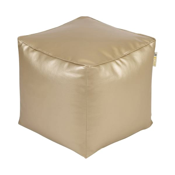 Pale Gold Square Pouf