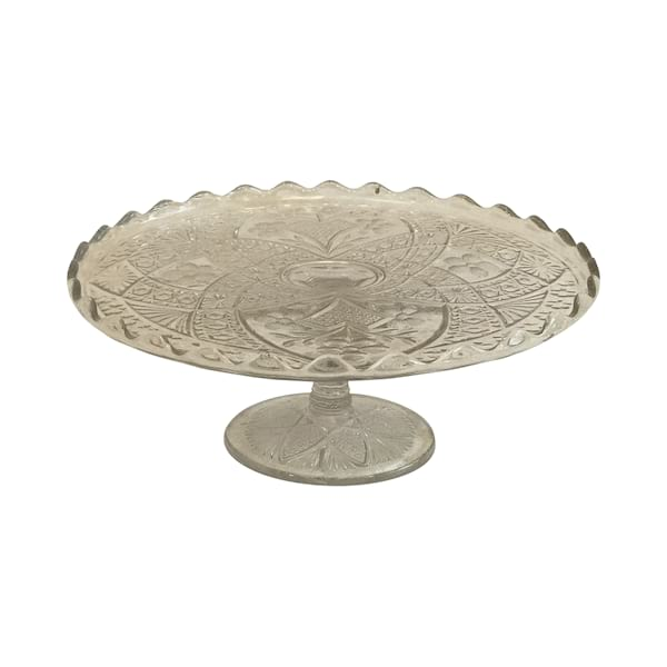 Clear Glass Cake Stand #3