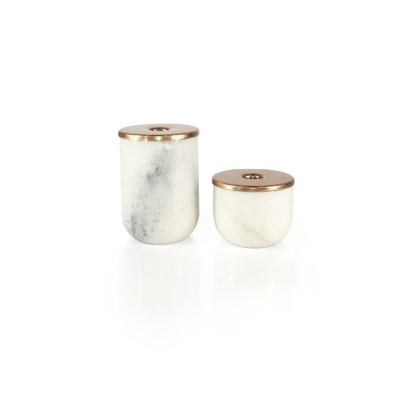 Marble/Copper Candle Holders