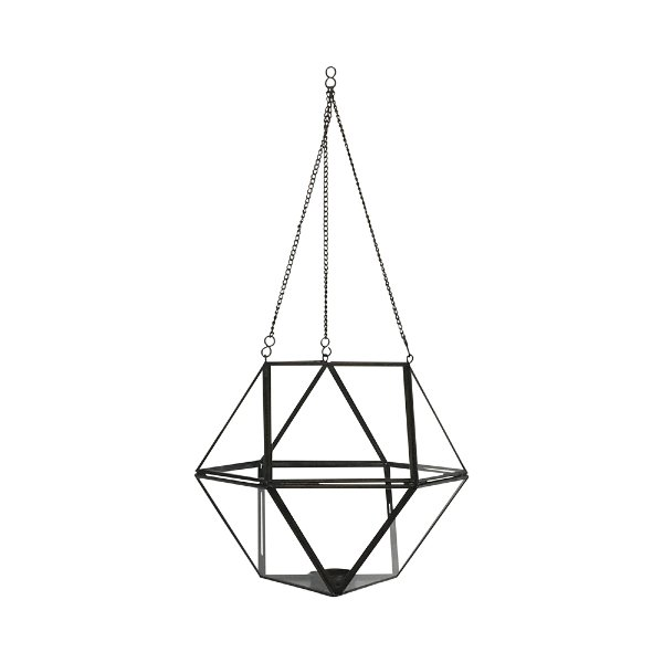 Hanging Geometric Glass Votive #4