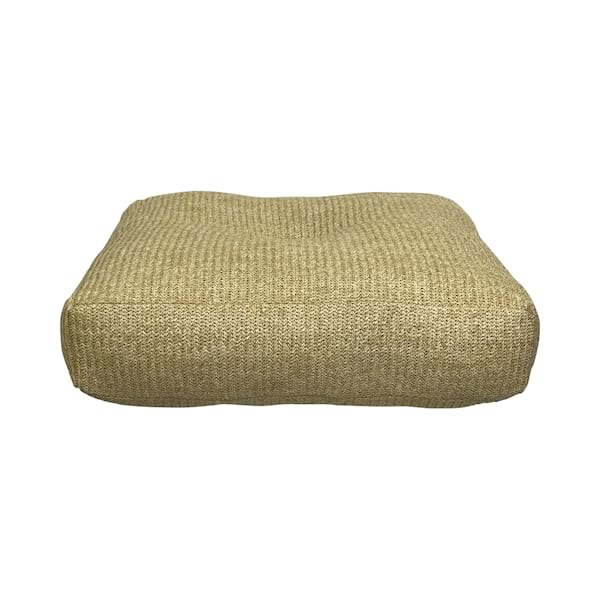 Natural Square Tufted Floor Pillow