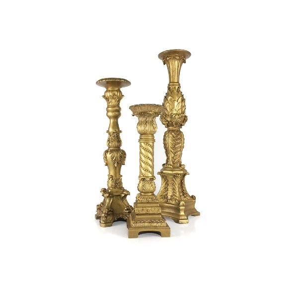 Gold Ornate Candlesticks