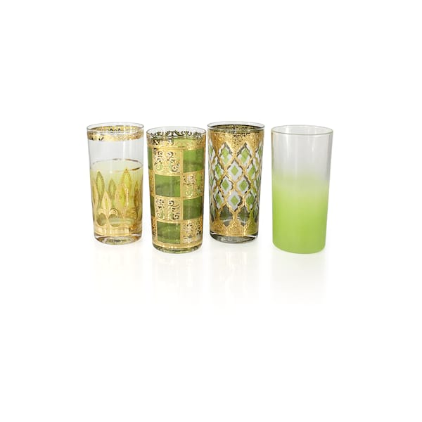 Vintage Green Highball Glassware