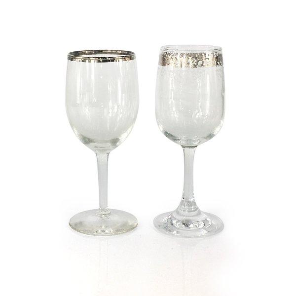 Silver Rim Wine Glasses