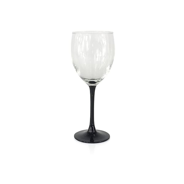 Black Stem Wine Glasses