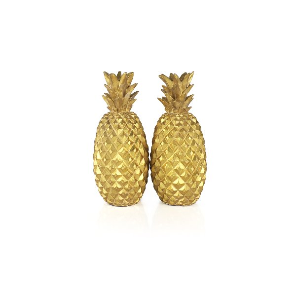 Gold Pineapple Candlesticks