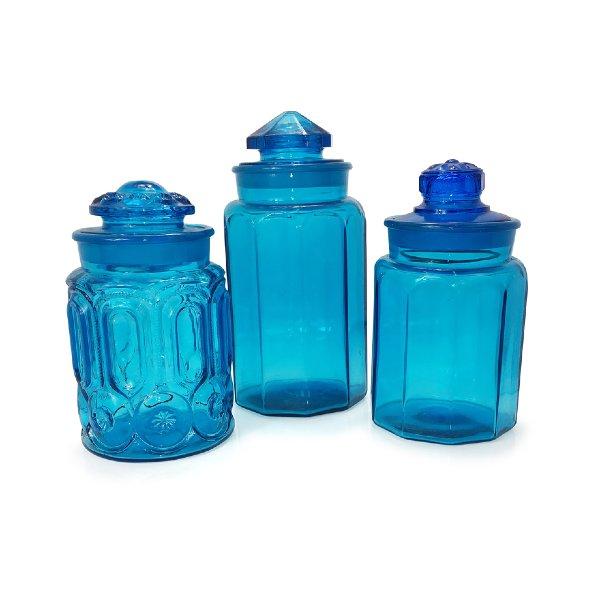 Aqua Blue Jars