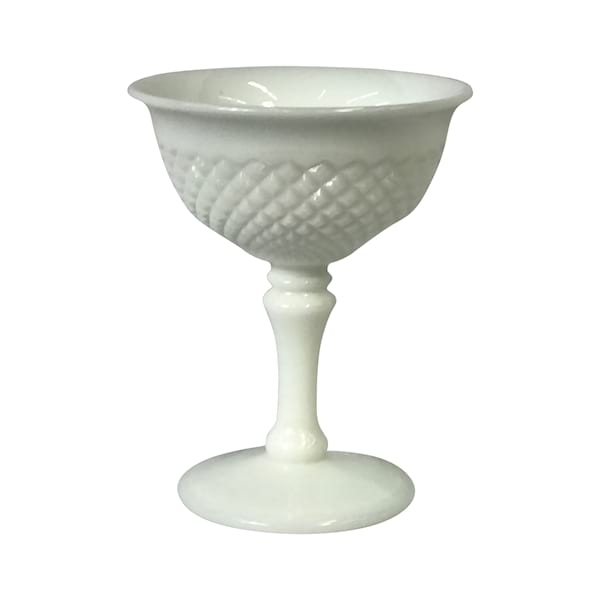 Milk Glass Champagne Glasses