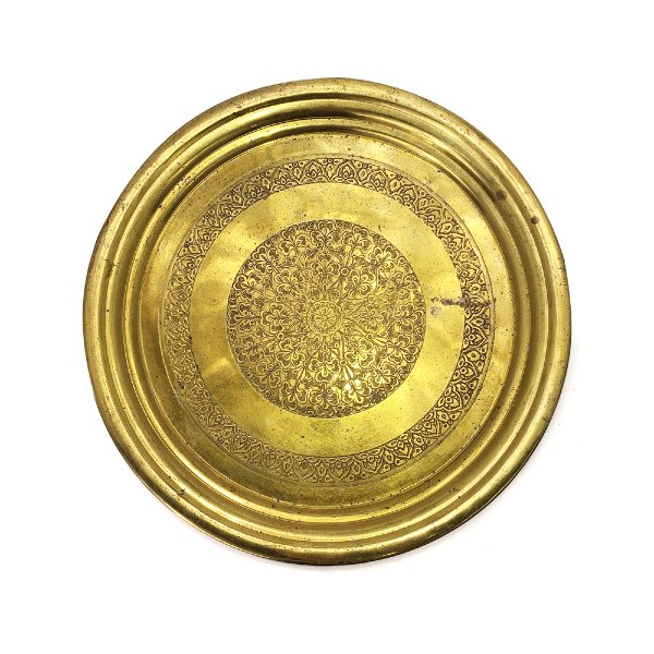 Gold Round Tray