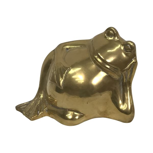 Brass Lounging Frog
