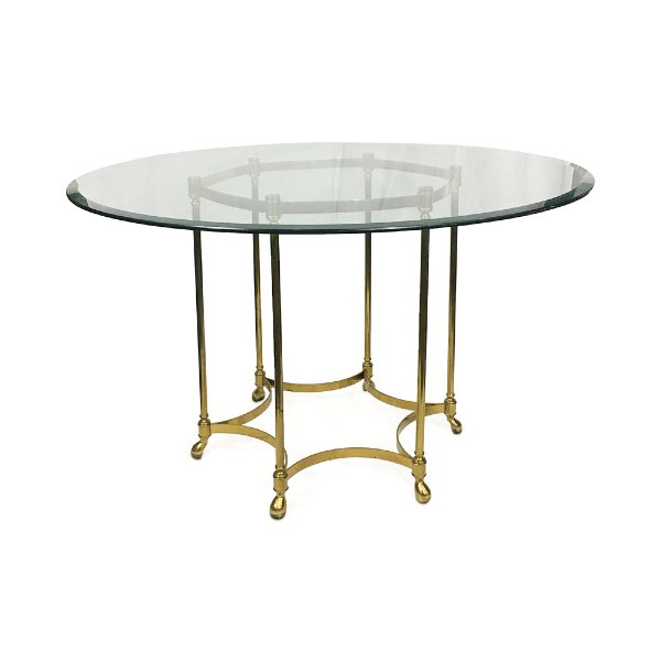 Brass/Glass Round Table