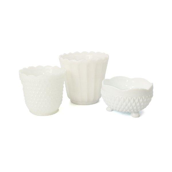 Milk Glass Pots
