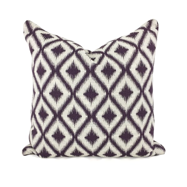 Purple//Cream Ikat