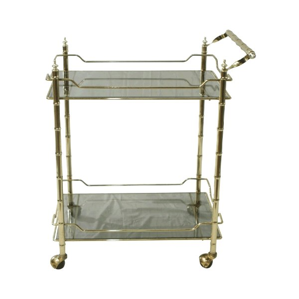 Square Brass Bar Cart